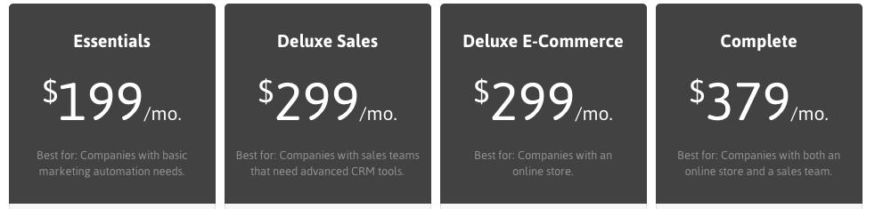 Infusionsoft price